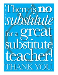 Subsitute teacher clip art