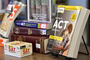 snapshot of ACT and SAT resource books