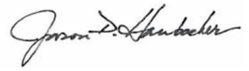 Signature of Superintendent Dr. Jason Hornbacher